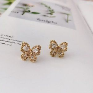 Kate Spade Full Diamond Butterfly Earrings